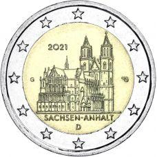 Saksa 2021 2 € Sachsen-Anhalt G UNC