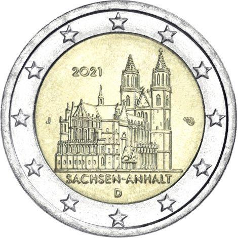 Saksa 2021 2 € Sachsen-Anhalt J UNC