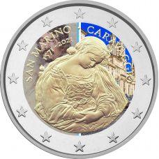 San Marino 2021 2 € Caravaggio VÄRITETTY