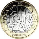 Slovenia 2020 3 € Kansanäänestys itsenäisyydestä 30v UNC