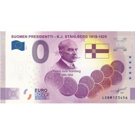 Suomi 2021 0 € K.J. Ståhlberg - 5v juhlaversio (LEBM 2021-1) UNC