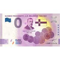 Suomi 2021 0 € L.K. Relander - 5v juhlaversio (LEBM 2021-2) UNC