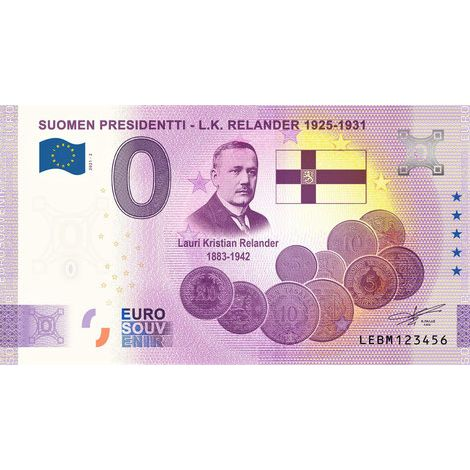 Suomi 2021 0 € L.K. Relander (LEBM 2021-2) UNC