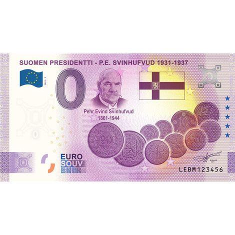 Suomi 2021 0 € P.E. Svinhufvud (LEBM 2021-3) UNC