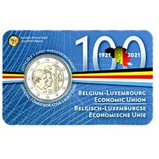 Belgia 2021 2 € Talousliitto 100 vuotta NL COINCARD