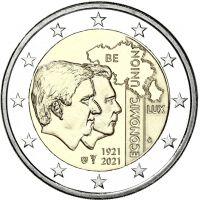 Belgia 2021 2 € Talousliitto 100 vuotta UNC