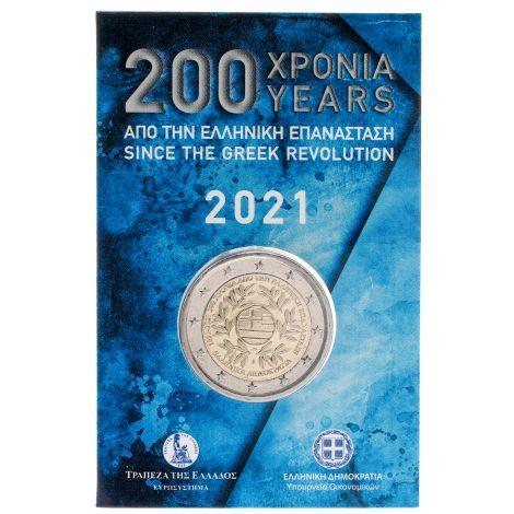 Kreikka 2021 2 € Vallankumous COINCARD