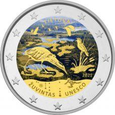 Liettua 2021 2 € Žuvintasin biosfäärialue #2 VÄRITETTY