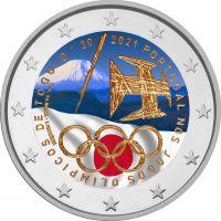 Portugali 2021 2 € Tokion olympialaiset #2 VÄRITETTY