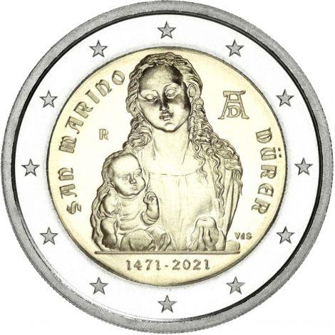 San Marino 2021 2 € Albrecht Dürer UNC