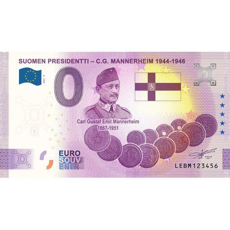 Suomi 2021 0 € C.G. Mannerheim (LEBM 2021-6) UNC