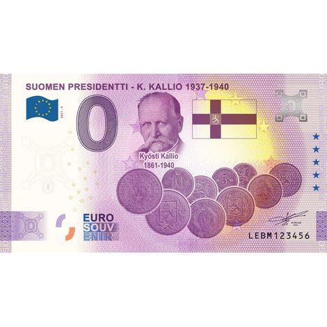 Suomi 2021 0 € Kyösti Kallio (LEBM 2021-4) UNC