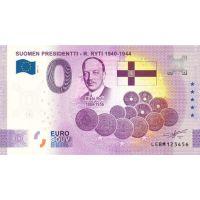 Suomi 2021 0 € Risto Ryti - 5v juhlaversio (LEBM 2021-5) UNC