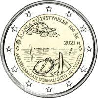 Suomi 2021 2 € Ahvenanmaan itsehallinto UNC