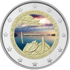 Suomi 2021 2 € Ahvenanmaan itsehallinto VÄRITETTY