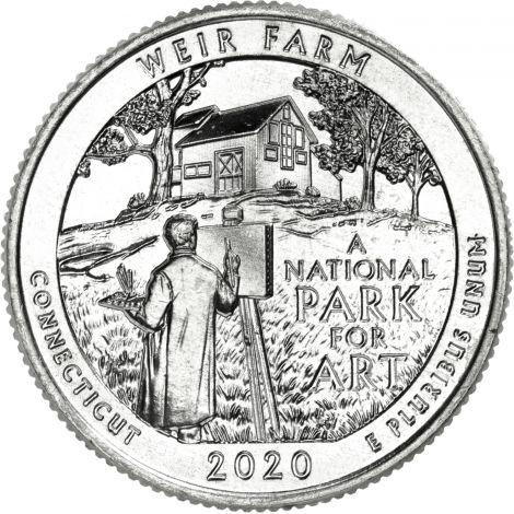 "USA 2020 $0,25 Connecticut - Weir Farm ""D"" UNC"