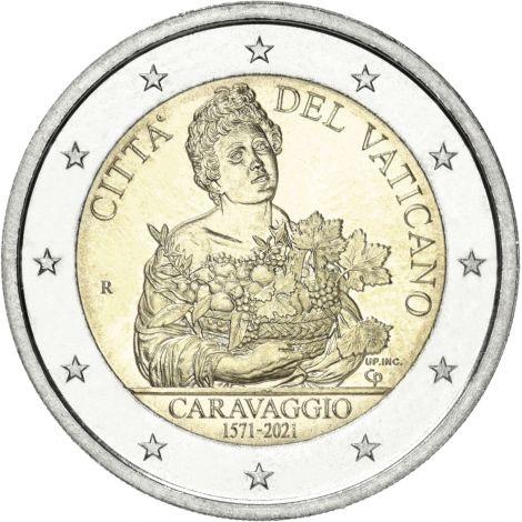 Vatikaani 2021 2 € Caravaggio UNC