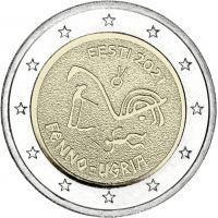 Viro 2021 2 € Suomalais-ugrilaiset kansat UNC