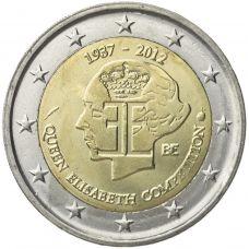 Belgia 2012 2 € Kuningatar Elisabeth -musiikkikilpailu 75 vuotta UNC