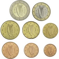 Irlanti 2002 1 c – 2 € Irtokolikot UNC
