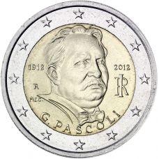 Italia 2012 2 € Giovanni Pascoli UNC