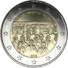 Malta 2012 2 € Majority Representation 1887 UNC