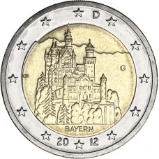 Saksa 2012 2 € Bayern G UNC