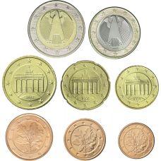 Saksa 1 c – 2 € Sekavuosi Irtokolikot UNC