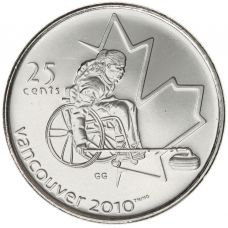 Kanada 2007 25 Cents Vancouver 2010 Wheelchair Curling UNC