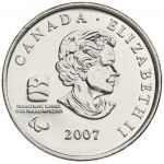Kanada 2007 25 Cents Vancouver 2010 Wheelchair Curling UNC