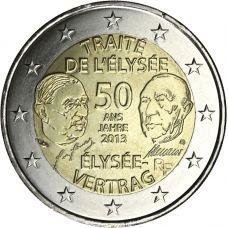Ranska 2013 2 € Élysée-sopimus 50 vuotta UNC