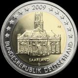 Saksa 2009 2 € Saarland D UNC