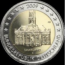 Saksa 2009 2 € Saarland F UNC