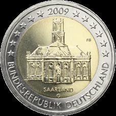 Saksa 2009 2 € Saarland G UNC