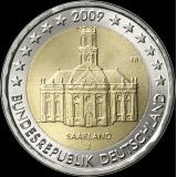 Saksa 2009 2 € Saarland J UNC