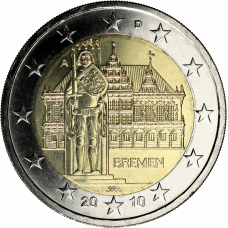 Saksa 2010 2 € Bremen A UNC