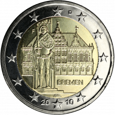 Saksa 2010 2 € Bremen F UNC