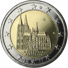 Saksa 2011 2 € Westfalen D UNC