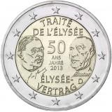Saksa 2013 2 € Élysée-sopimus 50 vuotta A UNC