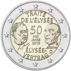 Saksa 2013 2 € Élysée-sopimus 50 vuotta G UNC