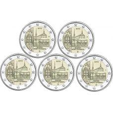 Saksa 2013 2 € Maulbronnin luostari ADFGJ UNC