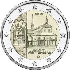 Saksa 2013 2 € Maulbronnin luostari J UNC