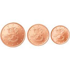 Suomi 2003 1 c, 2 c, 5 c Irtokolikot UNC