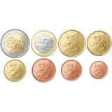Suomi 2007 1 c – 2 € Irtokolikot UNC