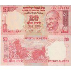 Intia 2009 20 Rupees UNC