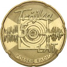 Puola 2012 2 Złoty 50 Years of the Third Programme of the Polish Radio UNC