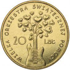 Puola 2012 2 Złoty Great Orchestra of Christmas Charity UNC