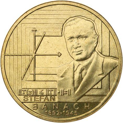 Puola 2012 2 Złoty Stefan Banach UNC