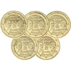 Saksa 2013 2 € Élysée-sopimus 50 vuotta ADFGJ KULLATTU