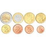Suomi 2001 1 c – 2 € Irtokolikot UNC